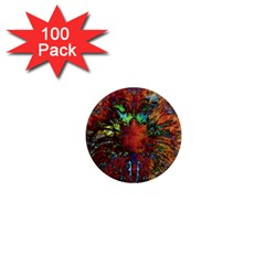 Boho Bohemian Hippie Floral Abstract 1  Mini Magnets (100 Pack)  by CrypticFragmentsDesign