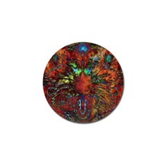 Boho Bohemian Hippie Floral Abstract Golf Ball Marker by CrypticFragmentsDesign