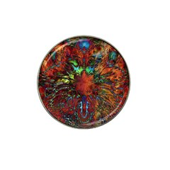 Boho Bohemian Hippie Floral Abstract Hat Clip Ball Marker (4 Pack) by CrypticFragmentsDesign