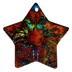 Boho Bohemian Hippie Floral Abstract Star Ornament (two Sides)  by CrypticFragmentsDesign