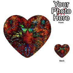 Boho Bohemian Hippie Floral Abstract Multi Purpose Cards (heart)  by CrypticFragmentsDesign
