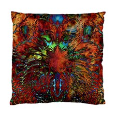 Boho Bohemian Hippie Floral Abstract Standard Cushion Case (one Side) by CrypticFragmentsDesign