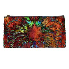 Boho Bohemian Hippie Floral Abstract Pencil Cases by CrypticFragmentsDesign