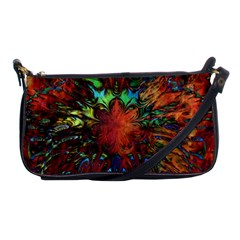Boho Bohemian Hippie Floral Abstract Shoulder Clutch Bags by CrypticFragmentsDesign