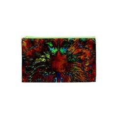Boho Bohemian Hippie Floral Abstract Cosmetic Bag (xs) by CrypticFragmentsDesign