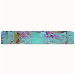 Retro Hippie Abstract Floral Blue Violet Small Bar Mats by CrypticFragmentsDesign