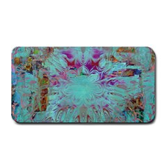 Retro Hippie Abstract Floral Blue Violet Medium Bar Mats by CrypticFragmentsDesign