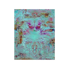 Retro Hippie Abstract Floral Blue Violet Shower Curtain 48  X 72  (small)  by CrypticFragmentsDesign