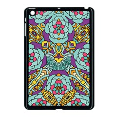 Mariager   Bold Blue,purple And Yellow Flower Design Apple Ipad Mini Case (black) by Zandiepants