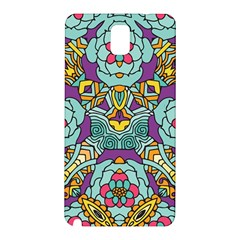 Mariager   Bold Blue,purple And Yellow Flower Design Samsung Galaxy Note 3 N9005 Hardshell Back Case by Zandiepants