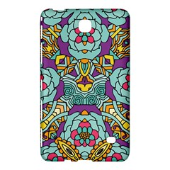 Mariager   Bold Blue,purple And Yellow Flower Design Samsung Galaxy Tab 4 (8 ) Hardshell Case  by Zandiepants