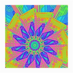 Neon Flower Sunburst Pinwheel Medium Glasses Cloth