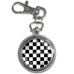 Checkered Flag Race Winner Mosaic Tile Pattern Key Chain Watches by CrypticFragmentsColors