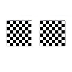 Checkered Flag Race Winner Mosaic Tile Pattern Cufflinks (square) by CrypticFragmentsColors