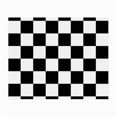 Checkered Flag Race Winner Mosaic Tile Pattern Small Glasses Cloth (2 Side) by CrypticFragmentsColors