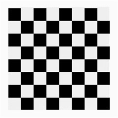 Checkered Flag Race Winner Mosaic Tile Pattern Medium Glasses Cloth by CrypticFragmentsColors