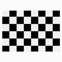 Checkered Flag Race Winner Mosaic Tile Pattern Large Glasses Cloth by CrypticFragmentsColors