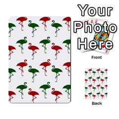 Flamingos Christmas Pattern Red Green Multi Purpose Cards (rectangle) by CrypticFragmentsColors