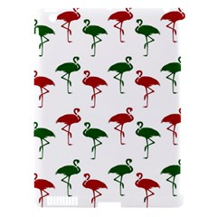 Flamingos Christmas Pattern Red Green Apple Ipad 3/4 Hardshell Case (compatible With Smart Cover) by CrypticFragmentsColors