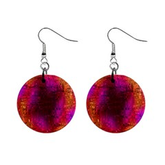 Purple Orange Pink Colorful Mini Button Earrings by yoursparklingshop