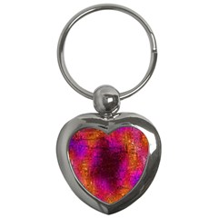 Purple Orange Pink Colorful Key Chains (heart)  by yoursparklingshop