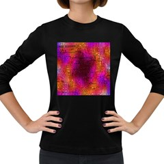 Purple Orange Pink Colorful Women s Long Sleeve Dark T Shirts by yoursparklingshop