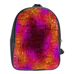 Purple Orange Pink Colorful School Bags(large)  by yoursparklingshop
