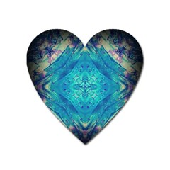 Boho Hippie Tie Dye Retro Seventies Blue Violet Heart Magnet by CrypticFragmentsDesign