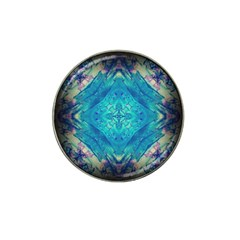 Boho Hippie Tie Dye Retro Seventies Blue Violet Hat Clip Ball Marker (4 Pack) by CrypticFragmentsDesign