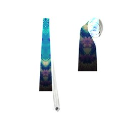 Boho Hippie Tie Dye Retro Seventies Blue Violet Neckties (one Side)  by CrypticFragmentsDesign
