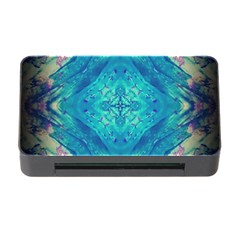Boho Hippie Tie Dye Retro Seventies Blue Violet Memory Card Reader With Cf by CrypticFragmentsDesign