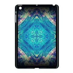 Boho Hippie Tie Dye Retro Seventies Blue Violet Apple Ipad Mini Case (black) by CrypticFragmentsDesign