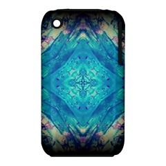 Boho Hippie Tie Dye Retro Seventies Blue Violet Apple Iphone 3g/3gs Hardshell Case (pc+silicone) by CrypticFragmentsDesign