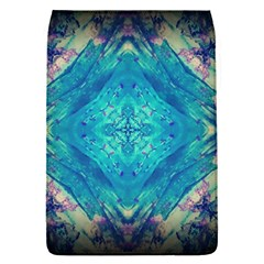 Boho Hippie Tie Dye Retro Seventies Blue Violet Flap Covers (s)  by CrypticFragmentsDesign