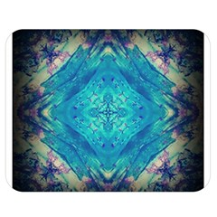 Boho Hippie Tie Dye Retro Seventies Blue Violet Double Sided Flano Blanket (medium)  by CrypticFragmentsDesign