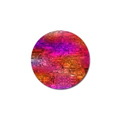 Purple Orange Pink Colorful Art Golf Ball Marker by yoursparklingshop