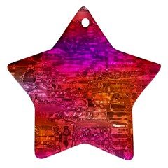 Purple Orange Pink Colorful Art Star Ornament (two Sides)  by yoursparklingshop