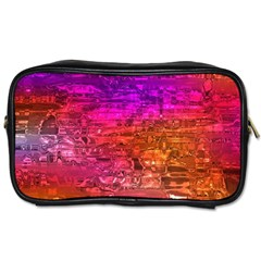 Purple Orange Pink Colorful Art Toiletries Bags by yoursparklingshop