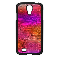 Purple Orange Pink Colorful Art Samsung Galaxy S4 I9500/ I9505 Case (black) by yoursparklingshop
