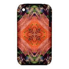 Boho Bohemian Hippie Floral Abstract Faded  Apple Iphone 3g/3gs Hardshell Case (pc+silicone) by CrypticFragmentsDesign