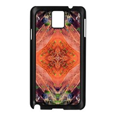 Boho Bohemian Hippie Floral Abstract Faded  Samsung Galaxy Note 3 N9005 Case (black) by CrypticFragmentsDesign