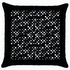 Galaxy Dots Throw Pillow Case (black) by dflcprints