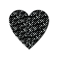 Galaxy Dots Heart Magnet by dflcprints