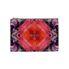 Boho Bohemian Hippie Retro Tie Dye Summer Flower Garden Design Cosmetic Bag (medium)  by CrypticFragmentsDesign