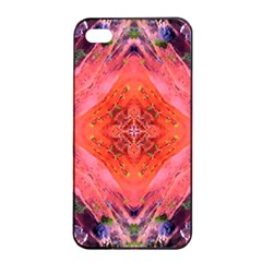 Boho Bohemian Hippie Retro Tie Dye Summer Flower Garden Design Apple Iphone 4/4s Seamless Case (black) by CrypticFragmentsDesign