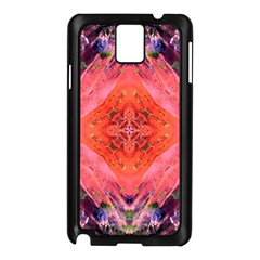 Boho Bohemian Hippie Retro Tie Dye Summer Flower Garden Design Samsung Galaxy Note 3 N9005 Case (black) by CrypticFragmentsDesign