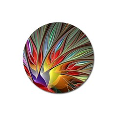 Fractal Bird Of Paradise Magnet 3  (round)