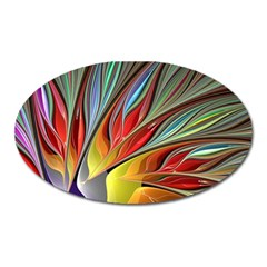 Fractal Bird Of Paradise Magnet (oval) by WolfepawFractals
