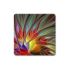Fractal Bird Of Paradise Magnet (square)