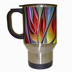 Fractal Bird Of Paradise Travel Mug (white)